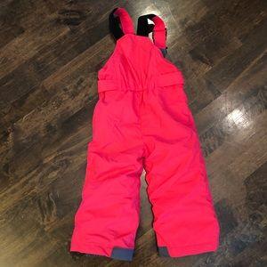Columbia Pink 2T Snow Bibs Snowboarding Pants